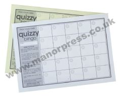 QUIZ ANSWER SHEETS - QUIZZY BINGO - 1 PACK